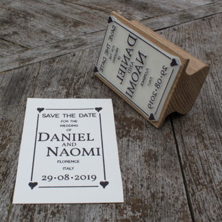 personalised save the date wedding rubber stamp