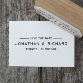 Wedding Stationery stamp and save the date