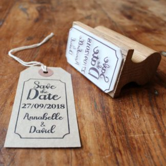 Tall Save the Date Stamp