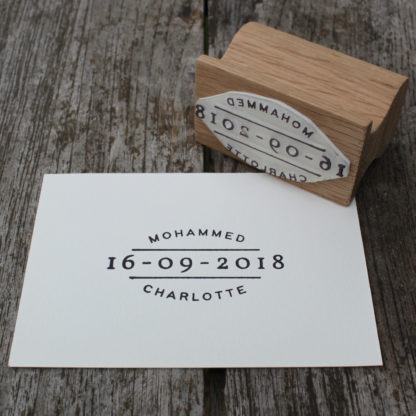 personalised save the date wedding favour stamp