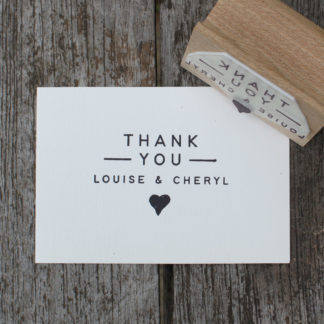 custom wedding favour rubber stamp