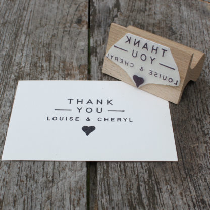personalised thank you wedding favour stamp