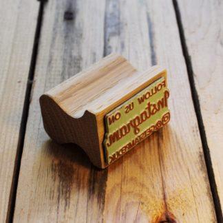 Instagram personalised rubber stamp