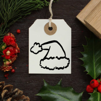 father christmas hat rubber stamp