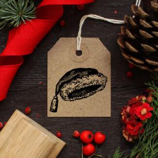santa hat rubber stamp