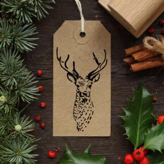 deer rubber stamp