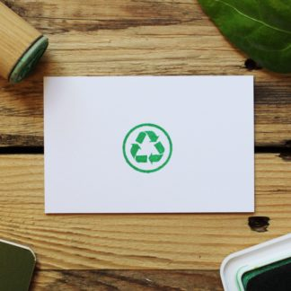 recycling symbol rubber stamp